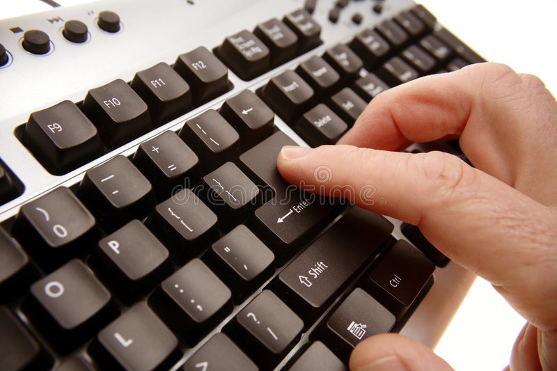 Download Person typing on keyboard stock image. Image of isolated - 7405111