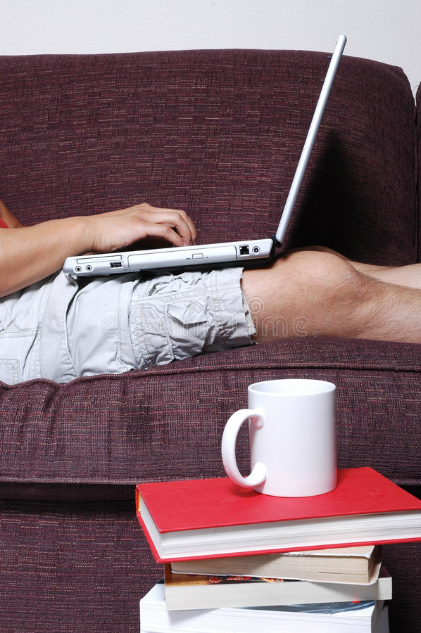 Download Person typing on Laptop stock image. Image of high, chat - 1099587
