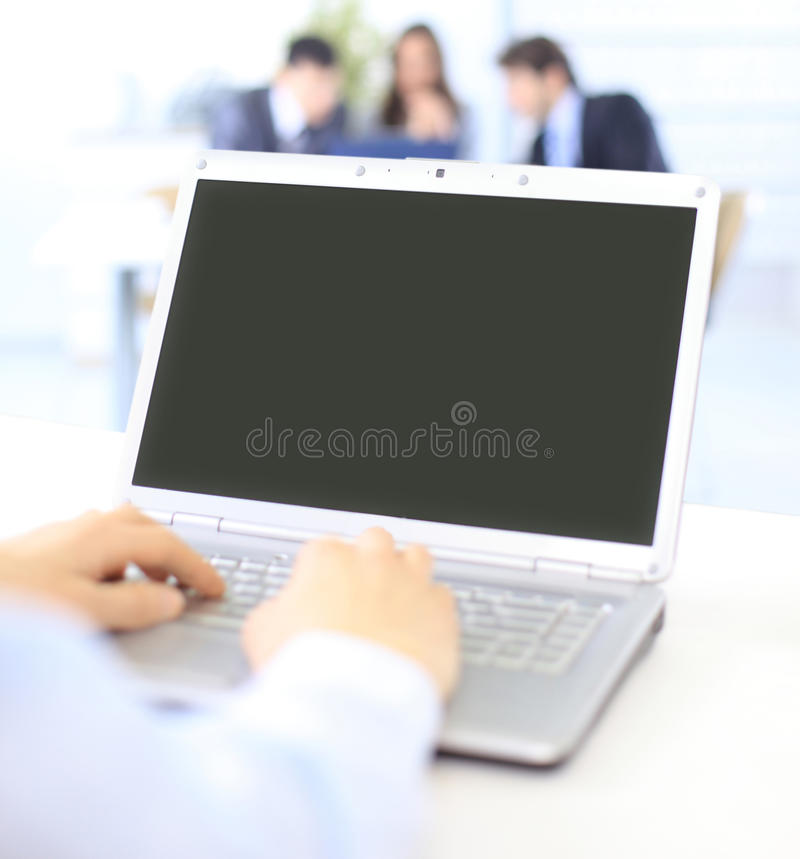 Download Person Typing on a modern stock photo. Image of monitor - 20200534