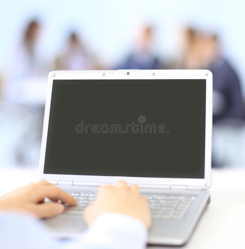 Download Person Typing on a modern stock photo. Image of futuristic - 21759664