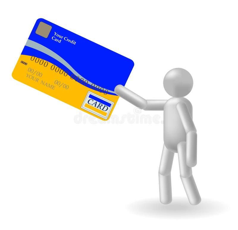 Person und Kreditkarte stock abbildung