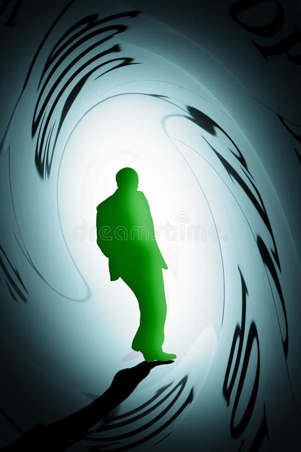 Person under pressure vector illustration