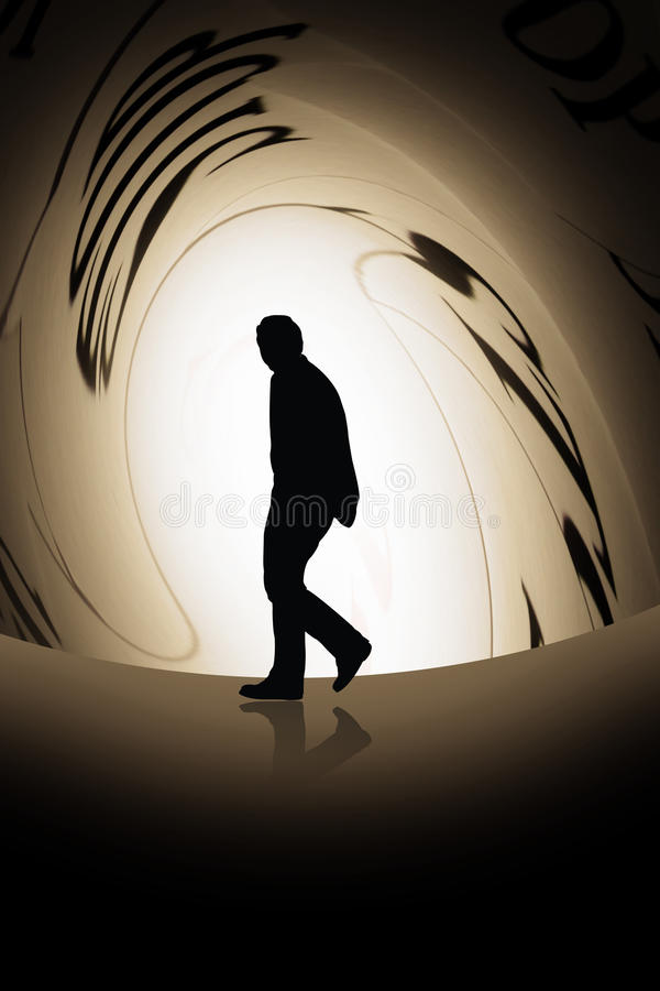 Person under pressure stock illustration