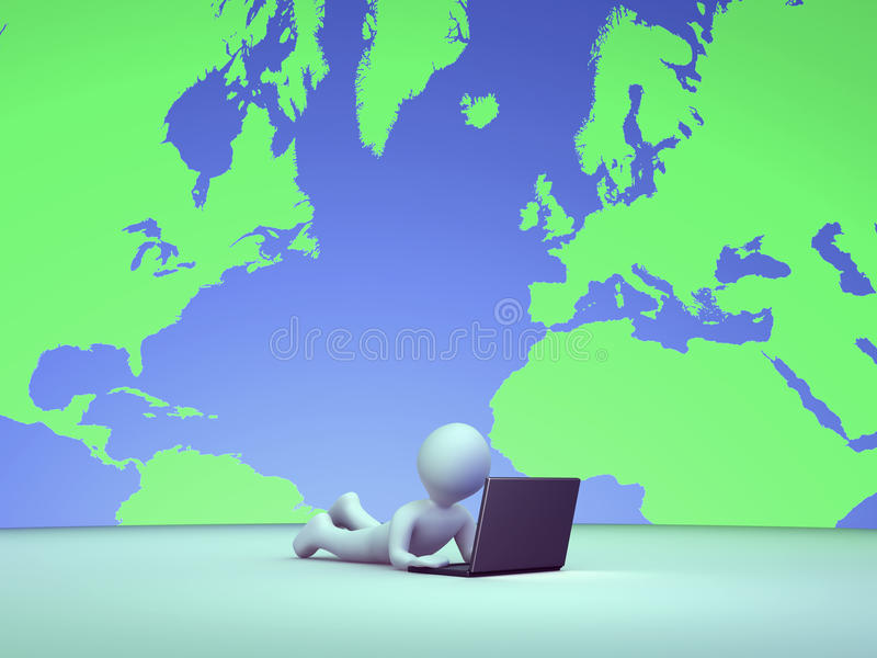Download Person Is Using A Computer Indoors Stock Photography - Image: 38211992