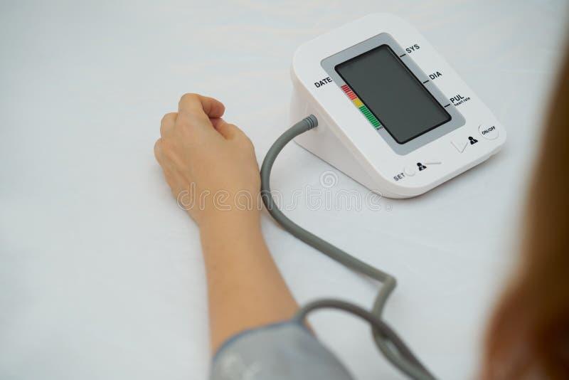 Digital tensiometer stock photo