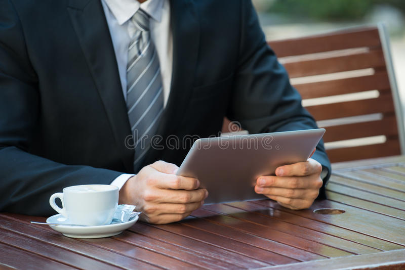 Person Using Digital Tablet stock photos