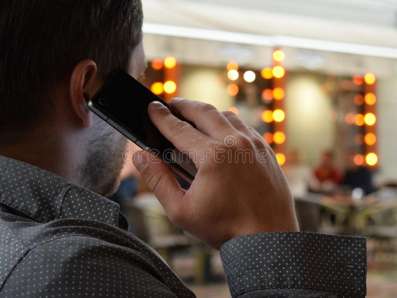 Person Using Phone Selective Focus Photography royalty free stock photography