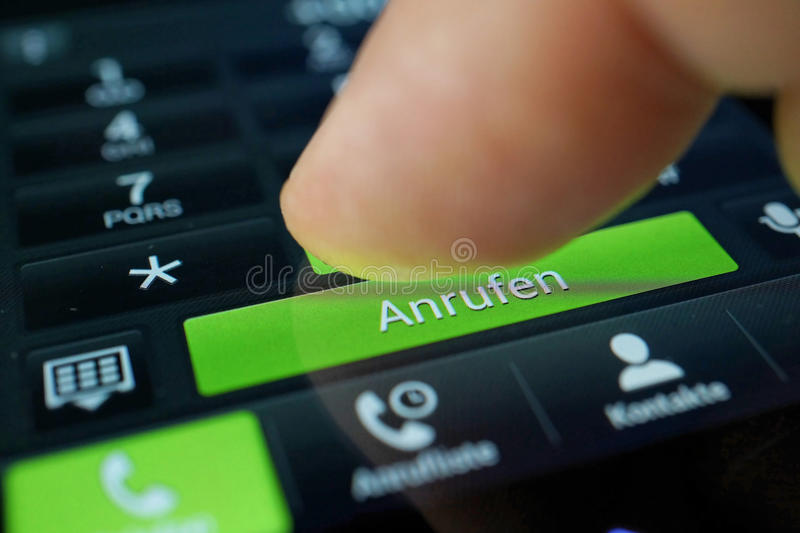 Person Using Smart Phone Stock Photo