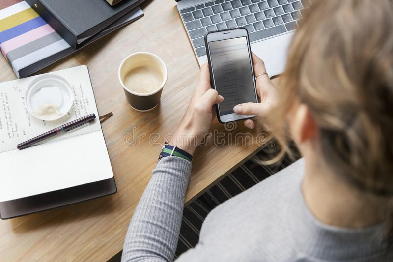 Person Using Smartphone stock image