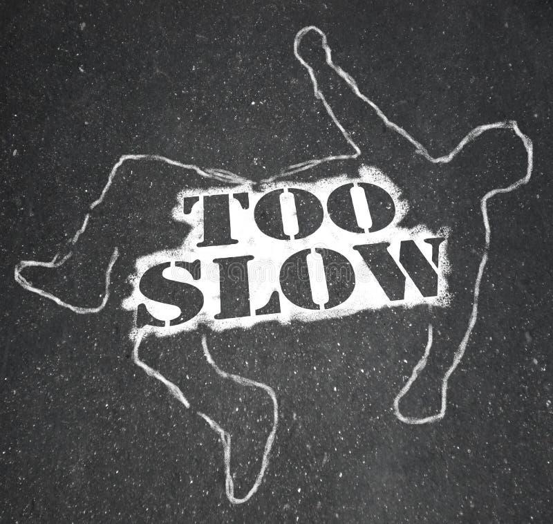 Person Victim Chalk Outline Lazy troppo lento recente illustrazione vettoriale