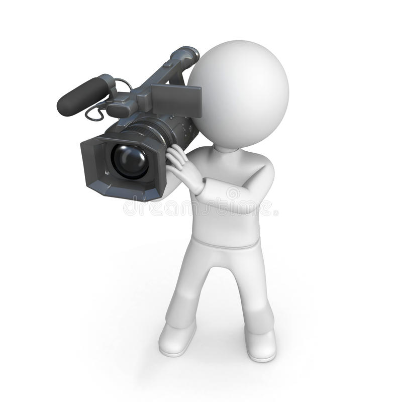 Person with video camera vector illustration
