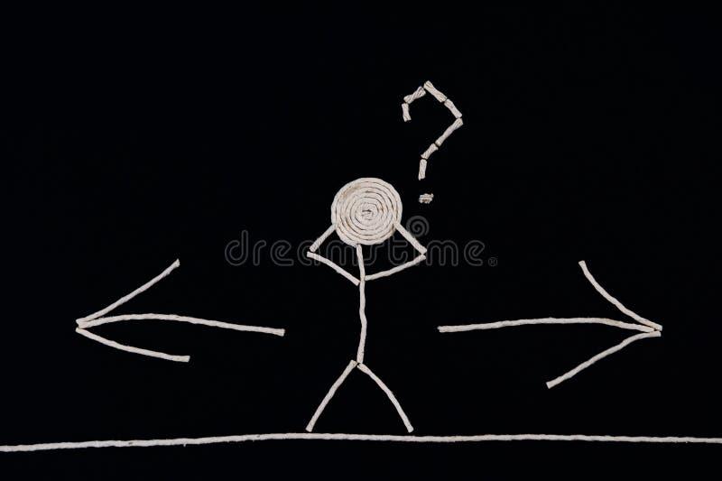Person vor einem auserlesenen, ungewöhnlichen Konzept stockbilder