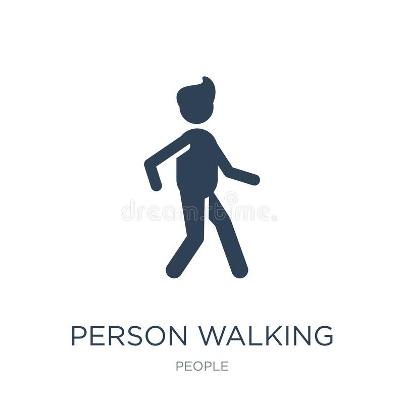 person walking icon in trendy design style. person walking icon isolated on white background. person walking vector icon simple stock illustration