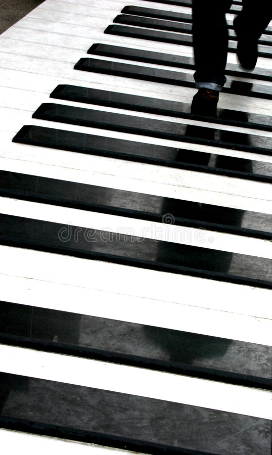 Free Person Walking On Piano Stock Image - 249851