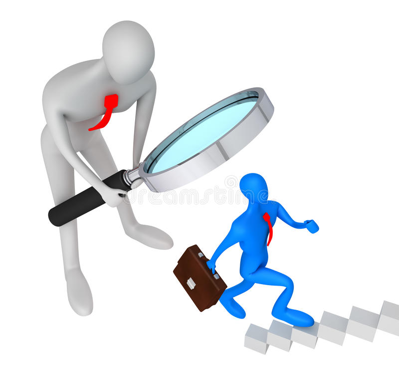 Download Person Watching The Career Of Another Man Stock Illustration - Illustration: 20593978