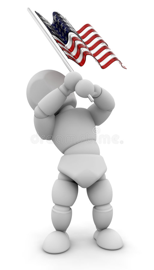 Person Waving American Flag Royalty Free Stock Photos