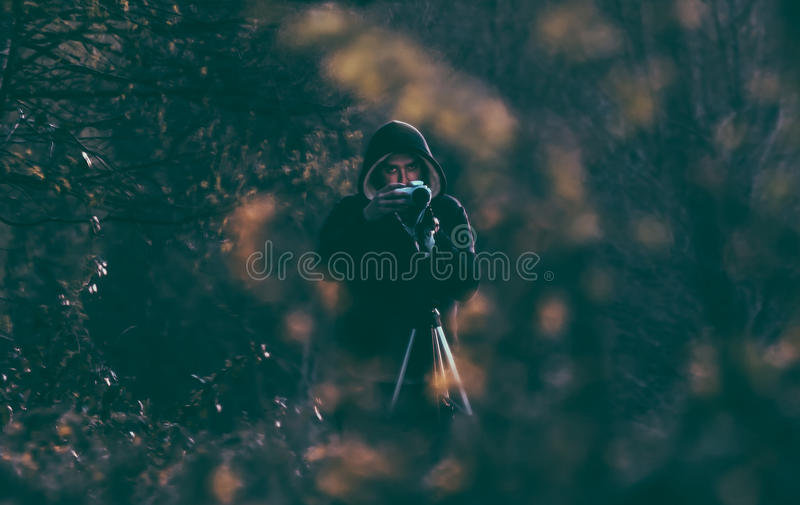 Person Wearing Black Hoodie In The Forest Free Public Domain Cc0 Image