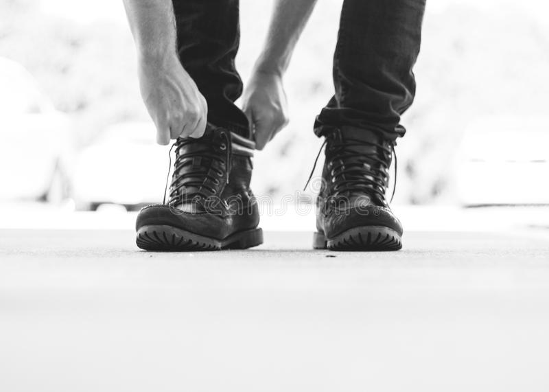 Person Wearing Black Leather Boots Free Public Domain Cc0 Image
