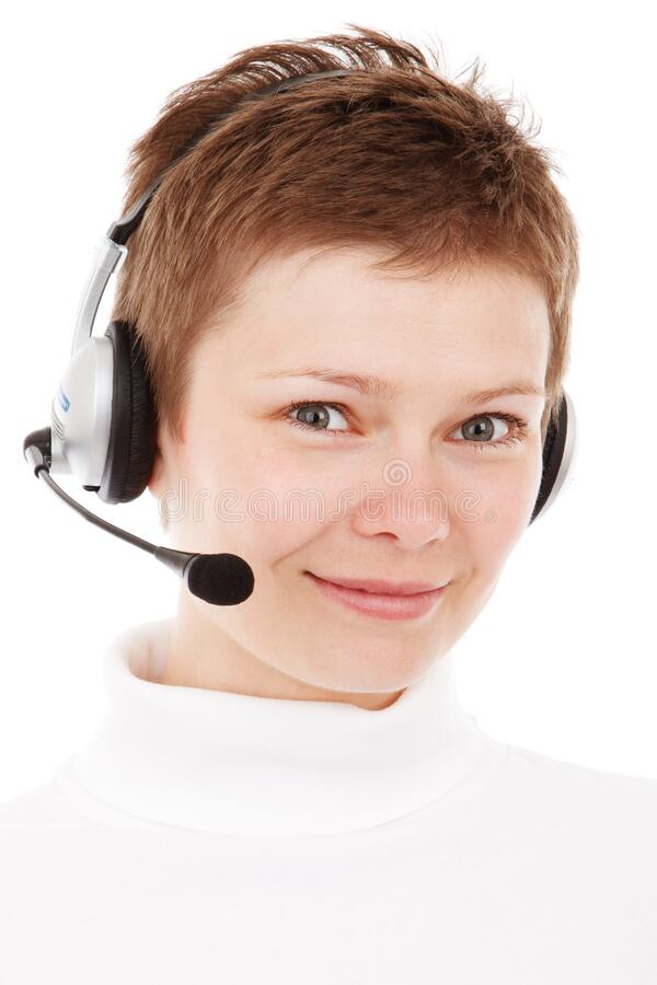 Person Wearing Silver Headset Smiling Free Public Domain Cc0 Image