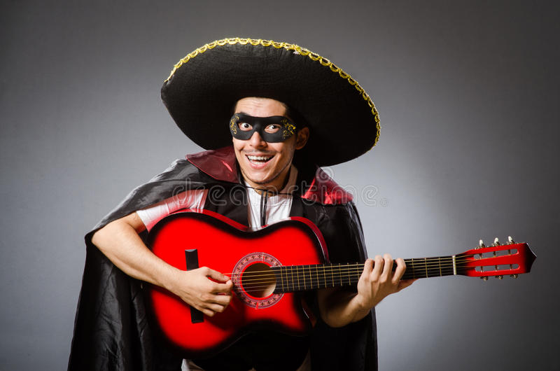 The person wearing sombrero hat in funny concept royalty free stock images
