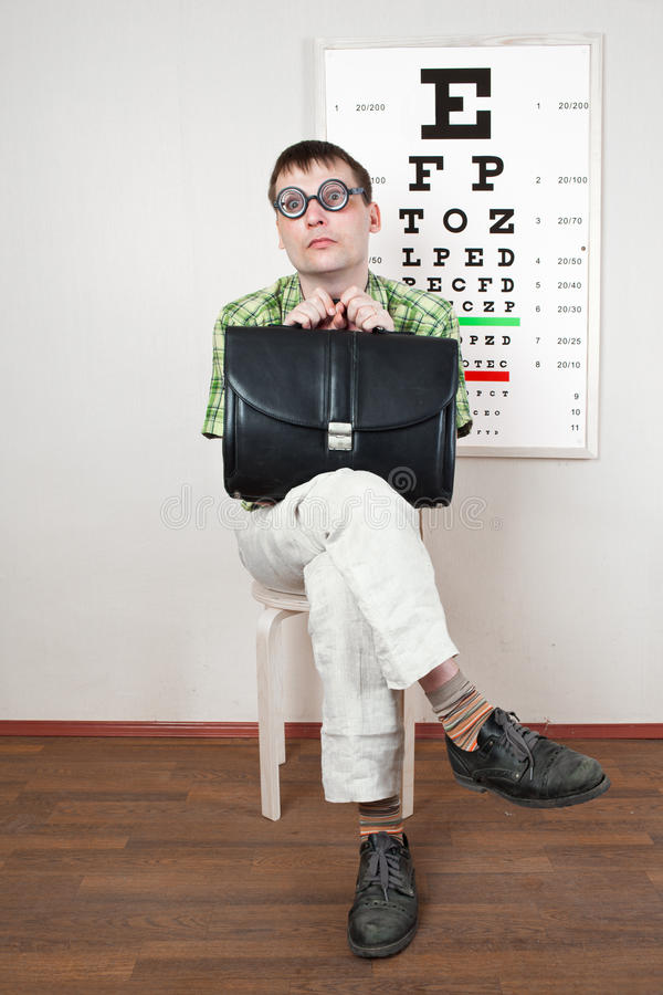 Download Person wearing spectacles stock image. Image of looking - 22132137