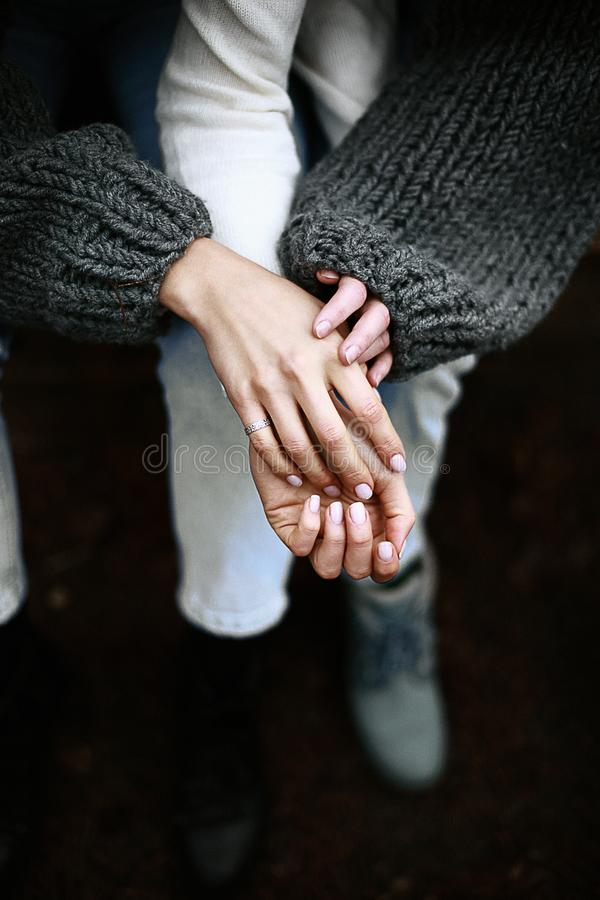 Person Wears Silver-colored Ring stock photo
