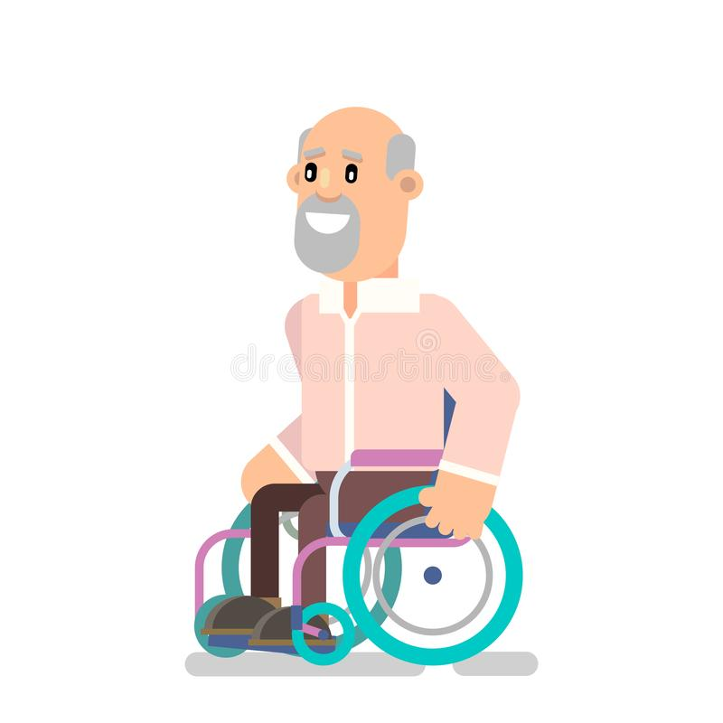 Person in a wheelchair vector illustration