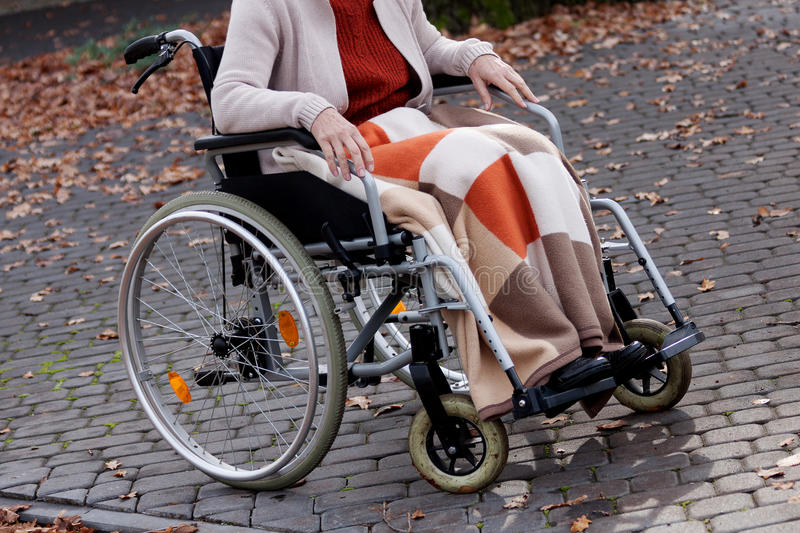 Person on wheelchair royalty free stock photography