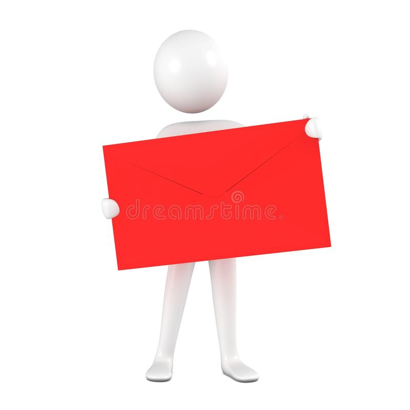 Free Person With Red Envelope. Royalty Free Stock Photography - 15011947