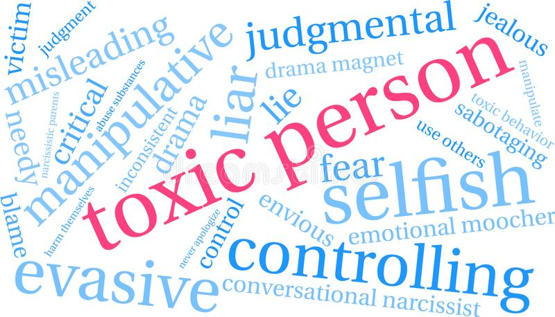 Person Word Cloud toxique illustration libre de droits