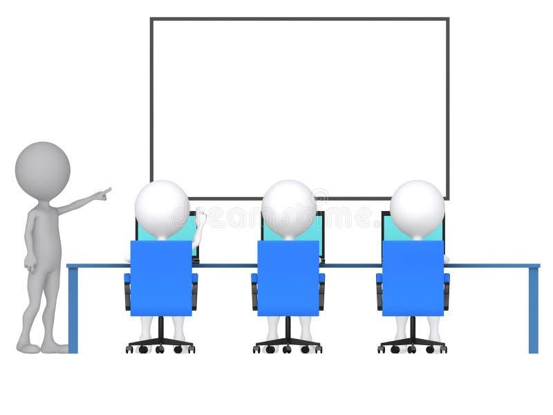 persona 3d con el puntero a disposición libre illustration