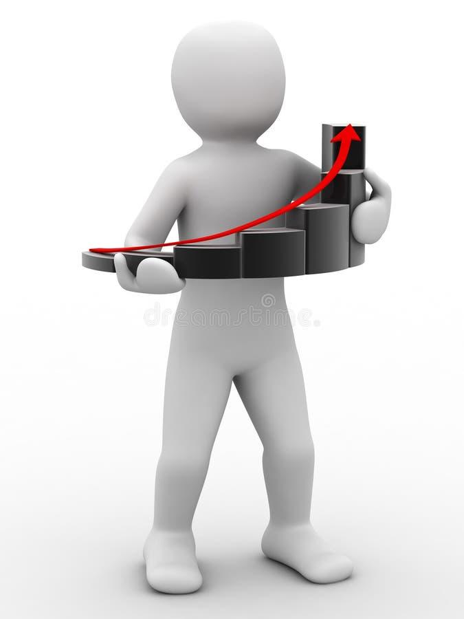 persona 3d y gráfico stock de ilustración
