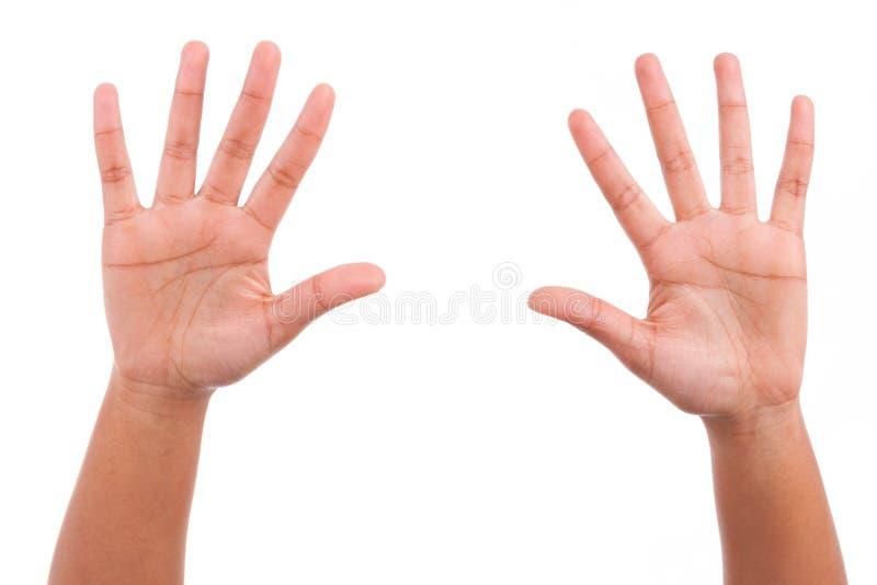 Persona africana joven que siembra su palma de las manos fotos de archivo libres de regalías