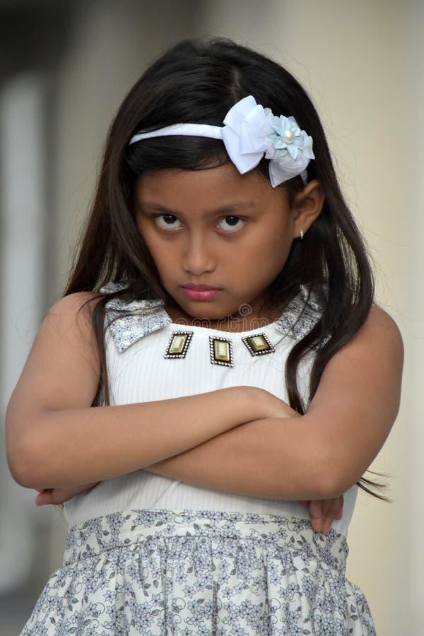 Persona asiática joven obstinada foto de archivo