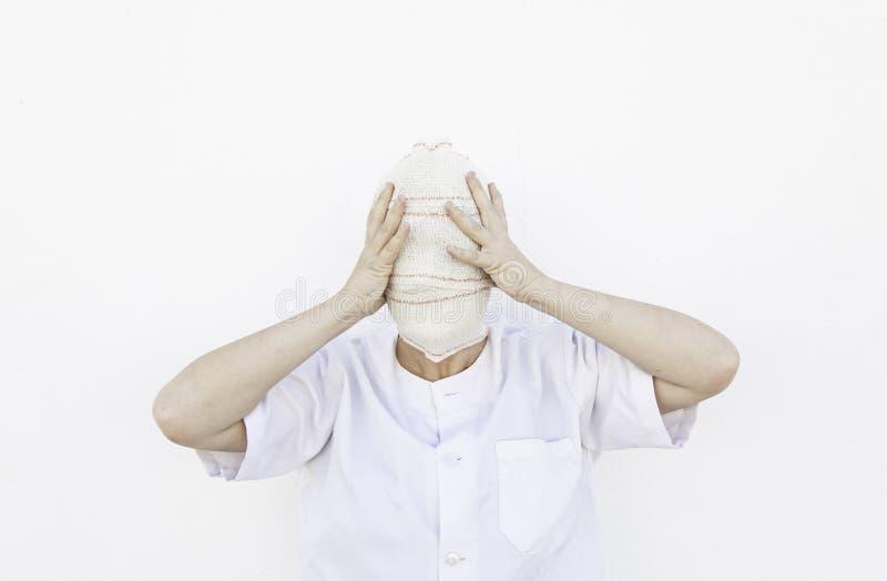 Persona bendata fotografie stock libere da diritti