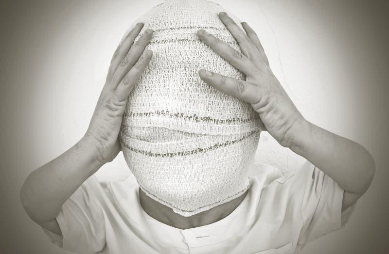 Persona bendata fotografie stock