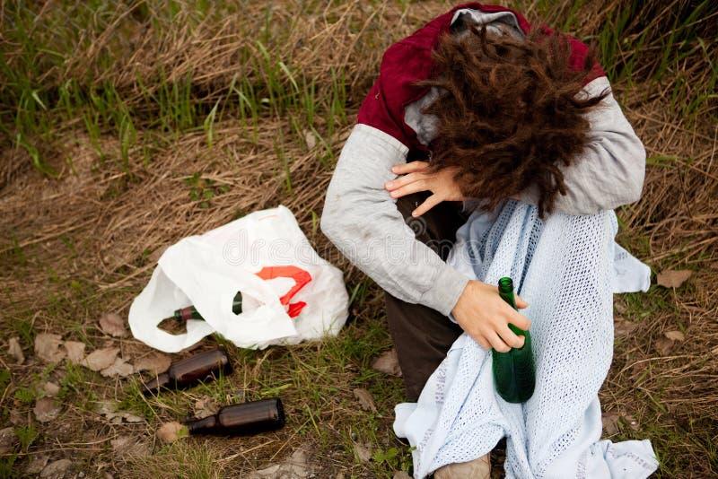 Persona borracha foto de archivo libre de regalías