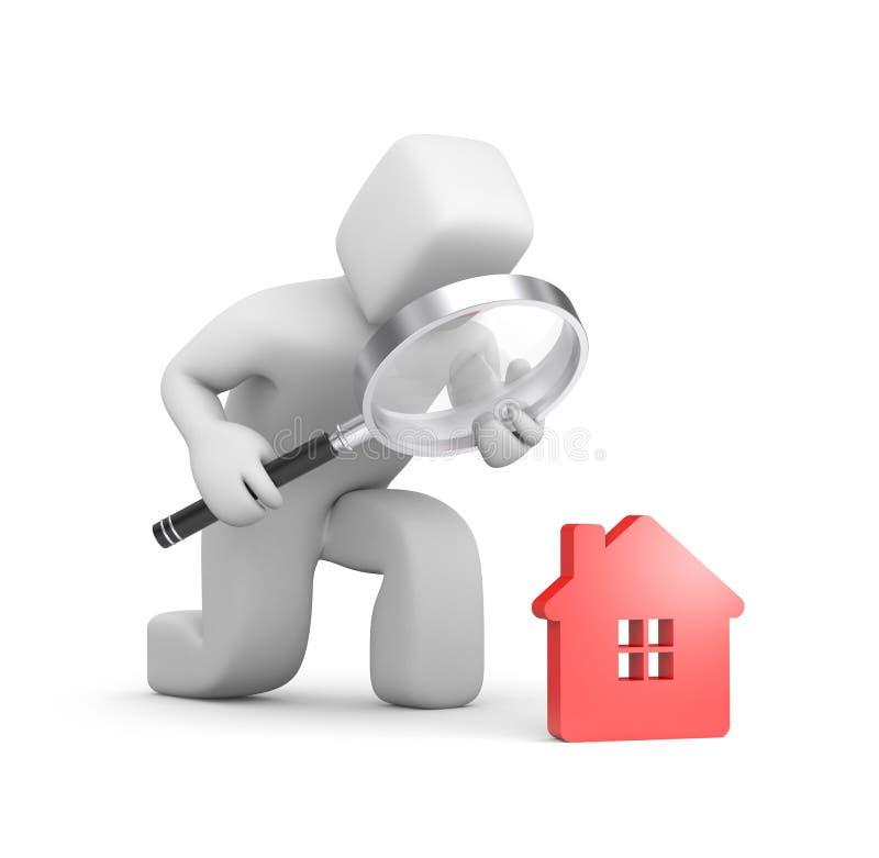 Persona che cerca una nuova casa illustrazione di stock