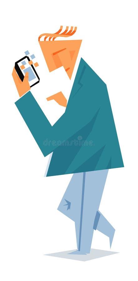 Persona che per mezzo del telefono astuto fotografie stock libere da diritti