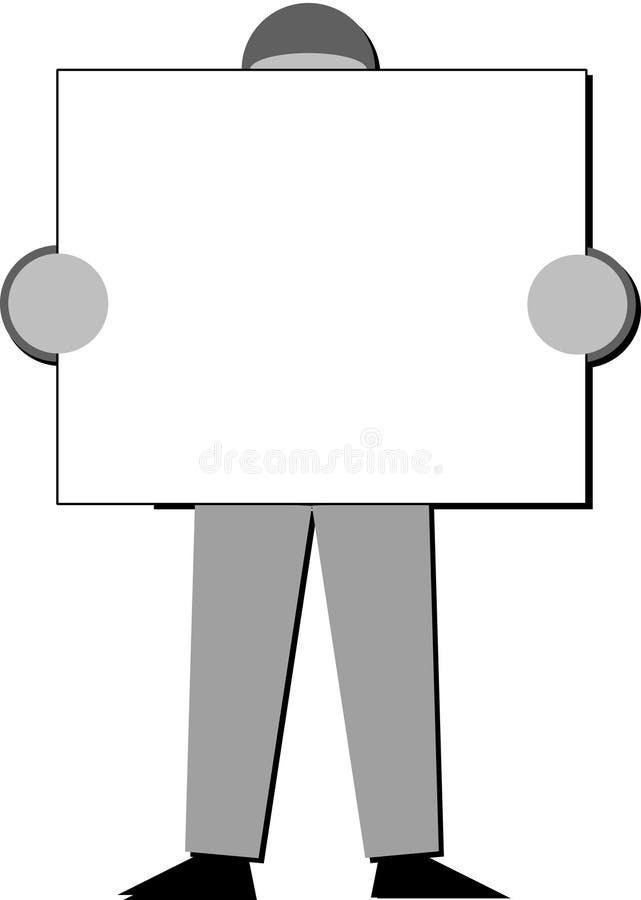 Download Persona Che Tiene Un'insegna Illustrazione di Stock - Illustrazione di messaggio, lavoro: 3133657