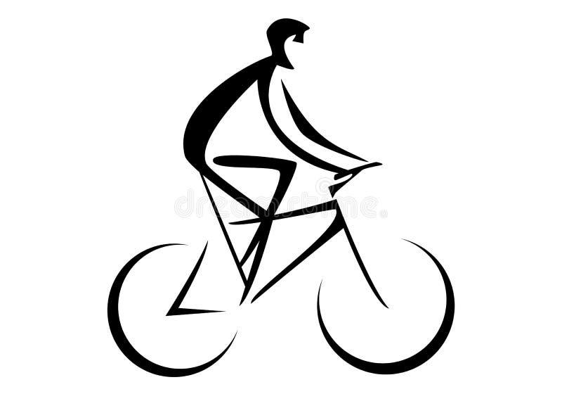 Persona ciclista montando una bicicleta - ilustración vectorial ilustración del vector