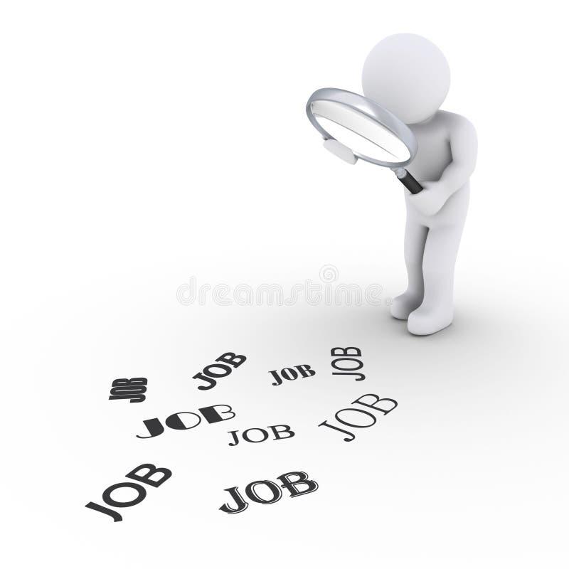 Persona con la lupa que busca trabajo libre illustration