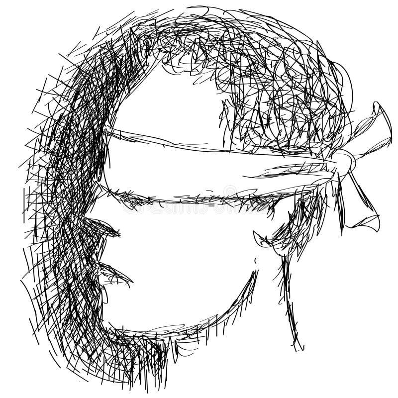 Persona con los ojos vendados libre illustration