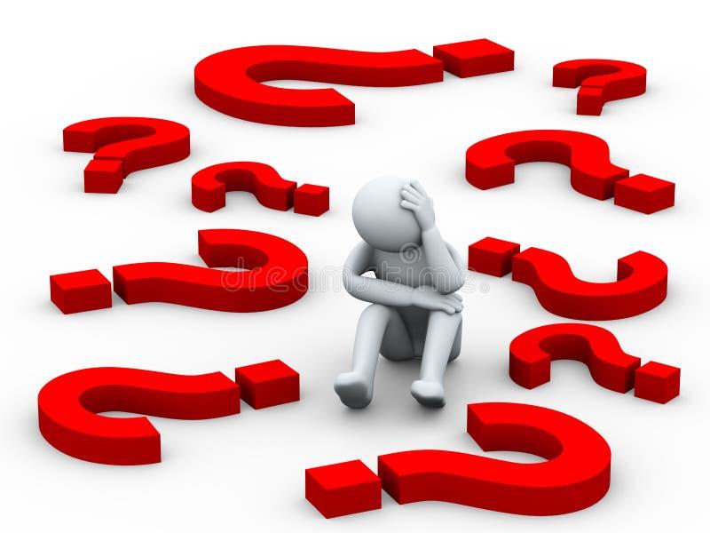 Persona confusa 3d fra i simboli del punto interrogativo for Programmi 3d free
