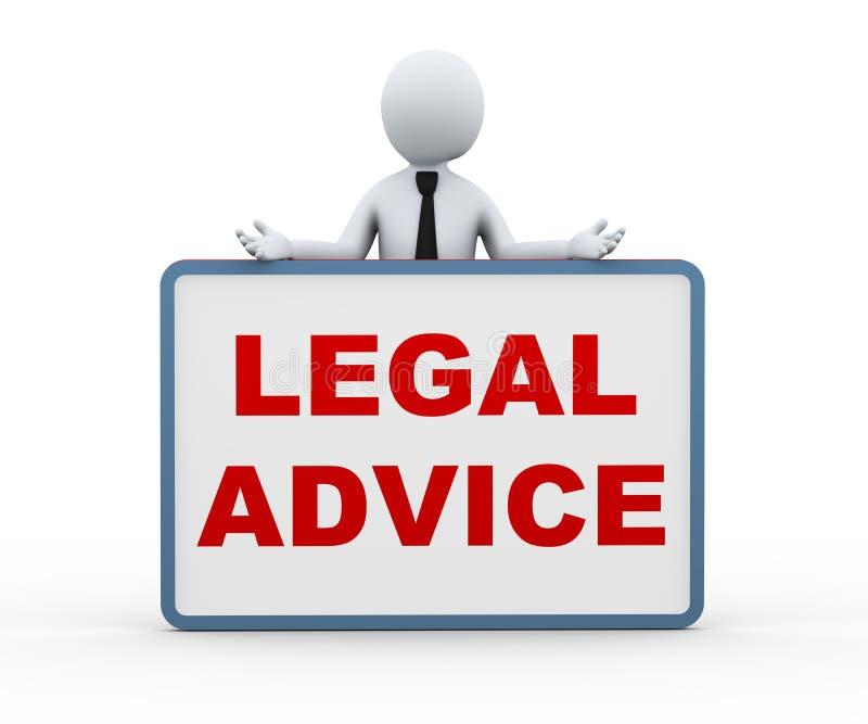 persona 3d que presenta asesoramiento jurídico stock de ilustración