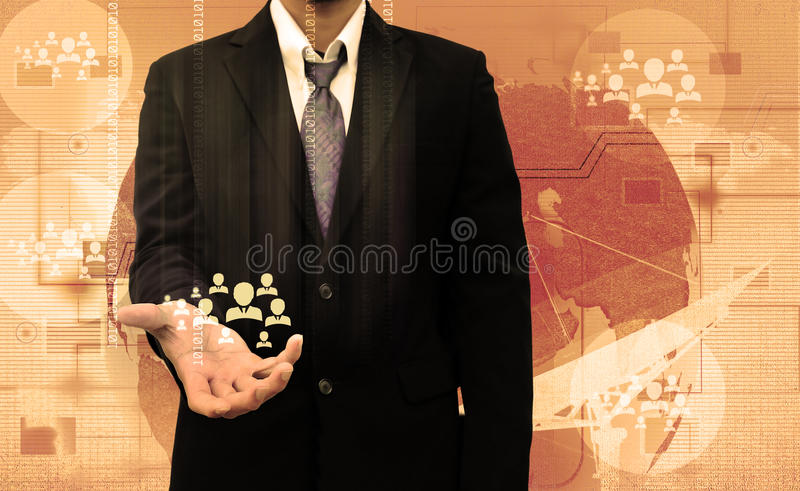 Persona de Choosing del hombre de negocios fotos de archivo libres de regalías