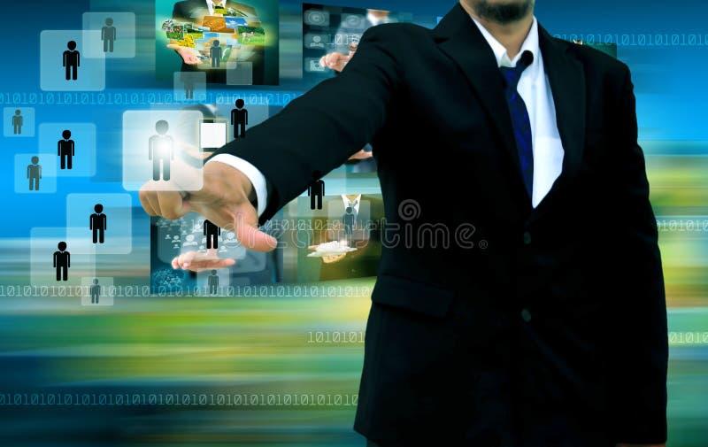 Persona de Choosing del hombre de negocios imágenes de archivo libres de regalías