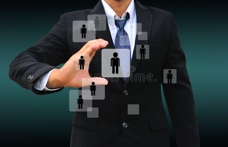Persona de Choosing del hombre de negocios foto de archivo libre de regalías