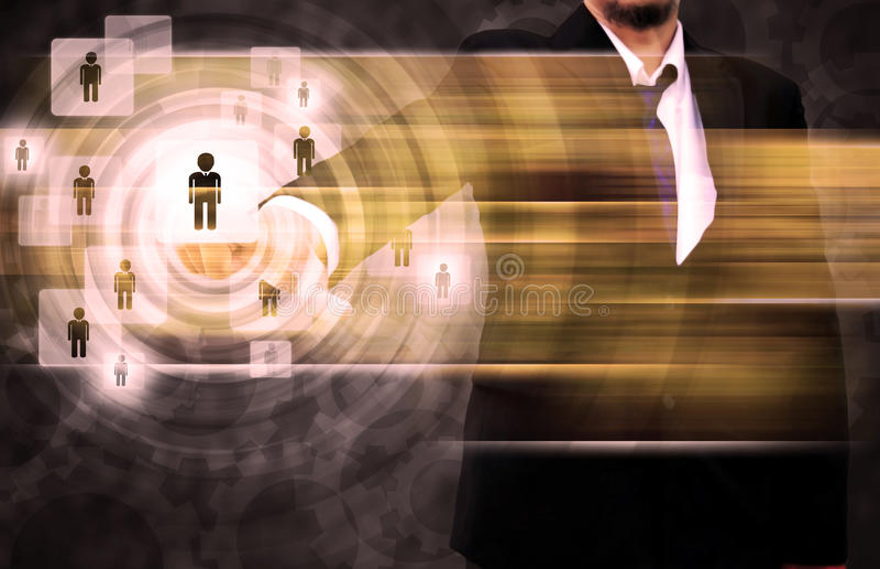 Persona de Choosing del hombre de negocios fotografía de archivo