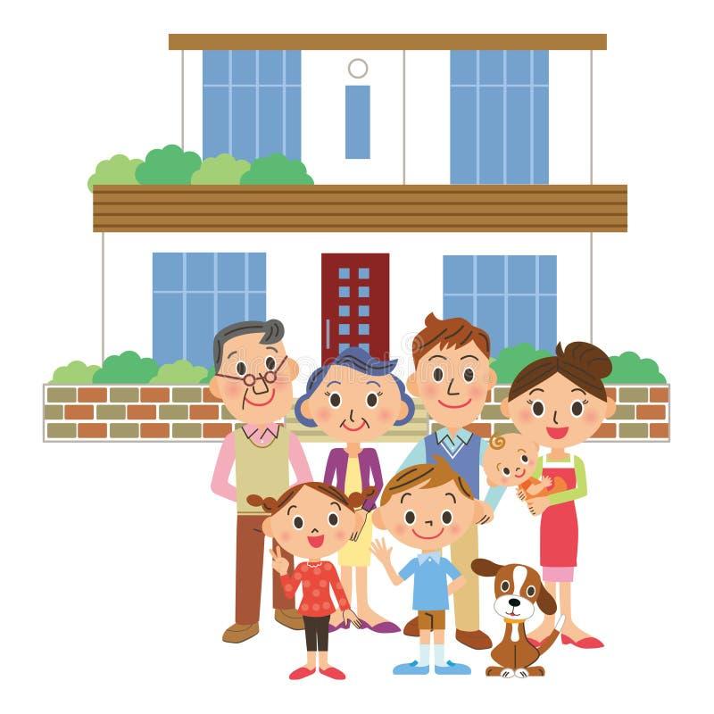 Persona de, y la familia de la tercera generación ilustración del vector